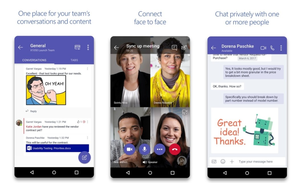 New features for Microsoft Teams on Android