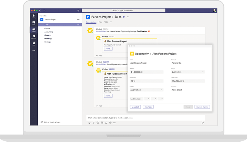 Woobot in Microsoft Teams