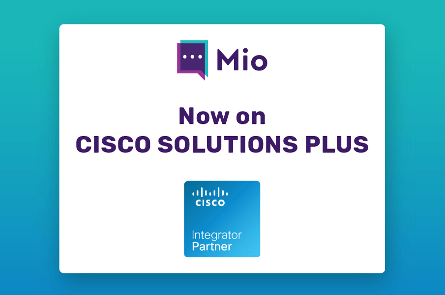 Mio is now on Cisco Solutions Plus to keep your team chat in sync across Slack, Webex & Microsoft Teams