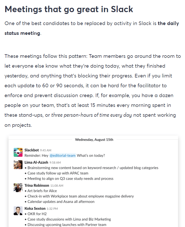 Slack meeting