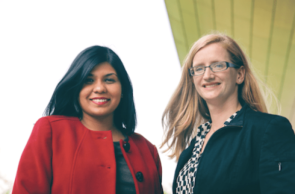 Kavitha Varathan, left, and Anne Yanni, founders of the Expat Spouses Initiative in Eindhoven.