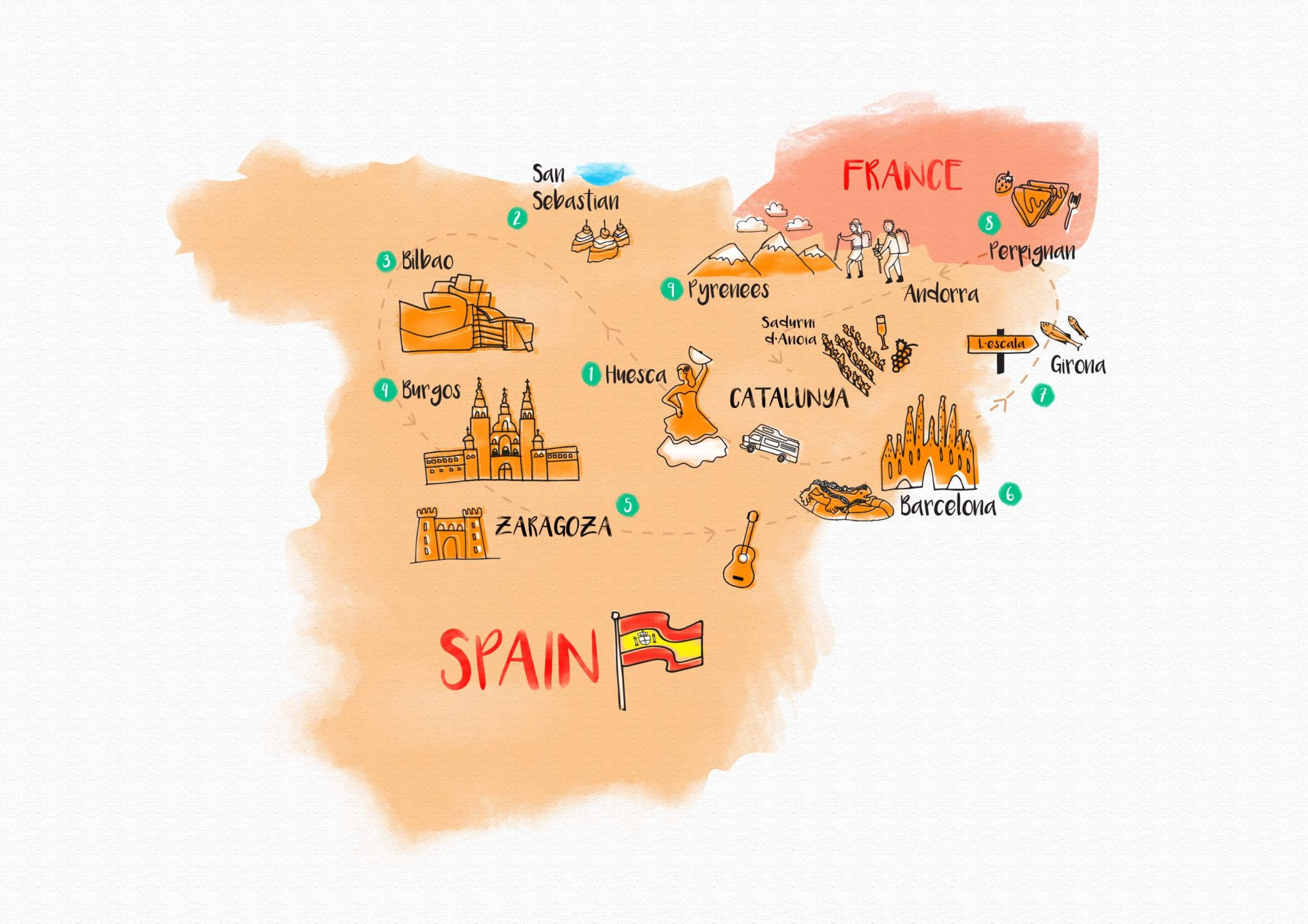 Karta Barcelona Andorra.Retire In Europe Relaxed Lifestyle Low Taxes