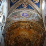 A fresco on the ceiling of the Cathedral San Martino.