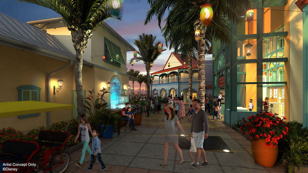 Disneys Caribbean Beach Resort Centertown Market Concept Art