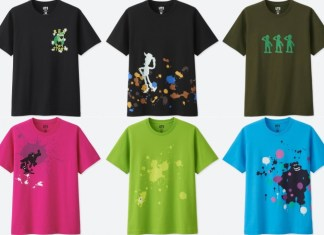A series of Pixar-themed t-shirts