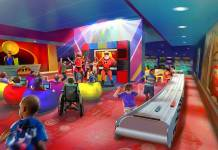 Concept art of Pixar Play Zone featuring The Incredibles