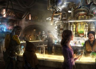 Concept art for Oga's Cantina