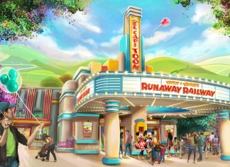 Disneyland Concept Art Mickey and Minnie's Runaway Railway