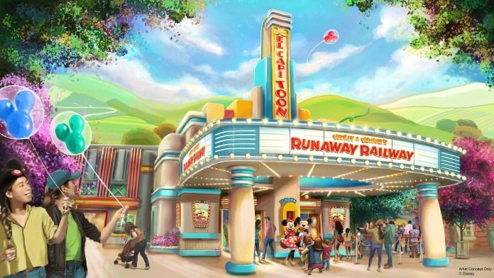 Disneyland Concept Art Mickey and Minnie's Runaway Railway