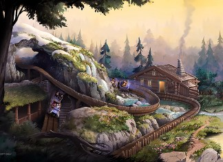 Hong Kong Disneyland Wandering Oaken's Sliding Sleighs concept art
