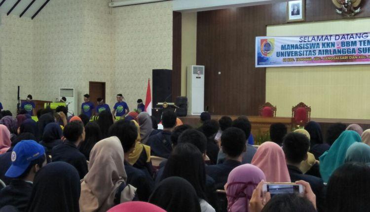 Bupati Terima Mahasiswa KKN BBM Tematik Unair (2)