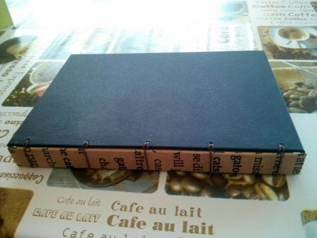 Cuaderno por detrás - encuadernación belga