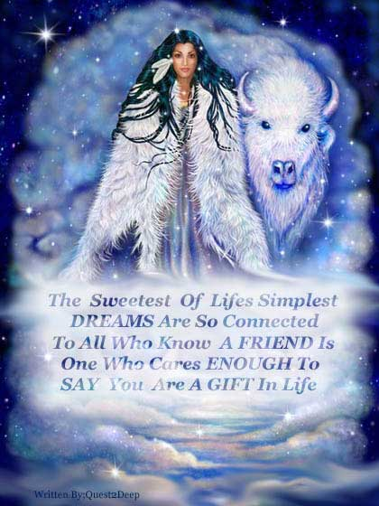 Native American White Buffalo Friend Gift In Life Myspace Comments And Graphics Myspace Comments