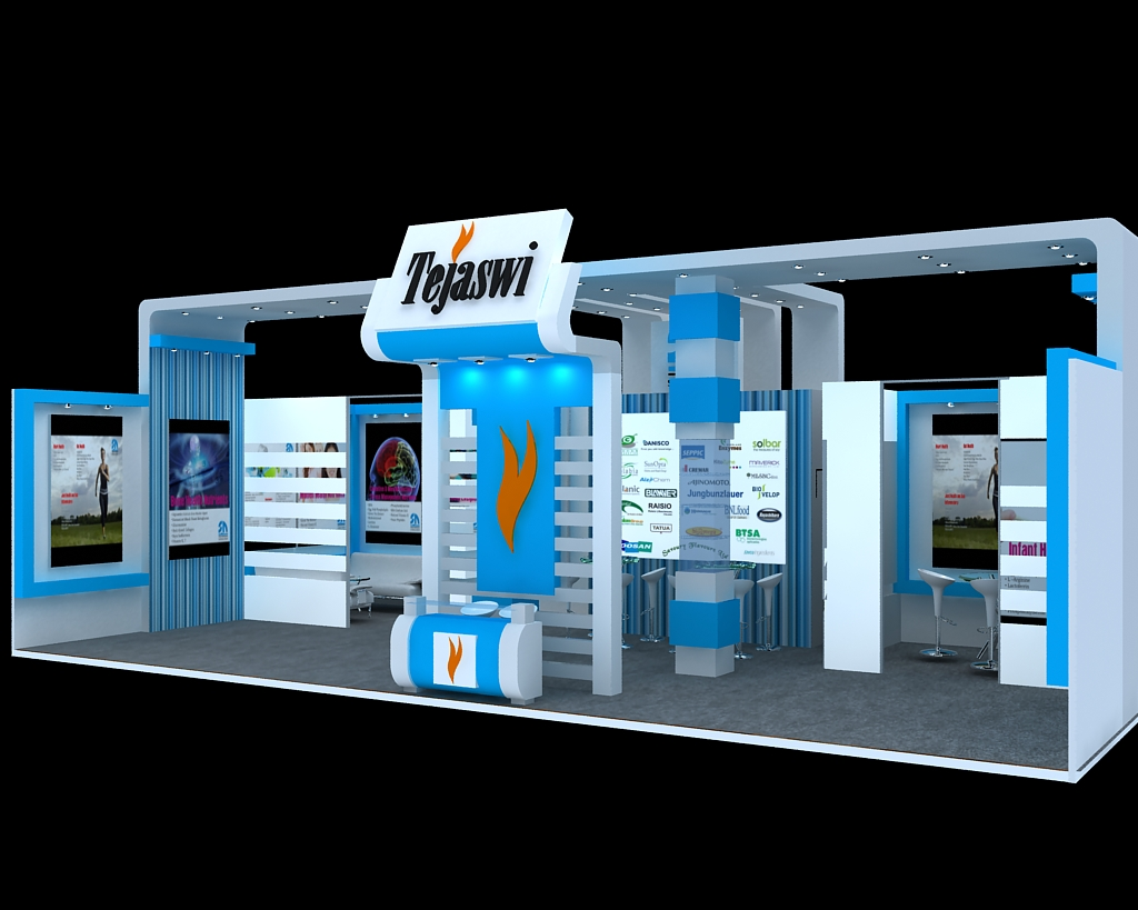 Simple Exhibition Stand Out : Simple exhibition stall d model mtr side