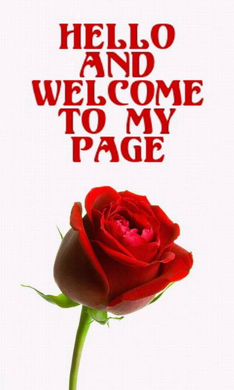 Welcome To My Page Welcome Graphics For Facebook Tagged Facebook Tumblr Hi5 Friendster