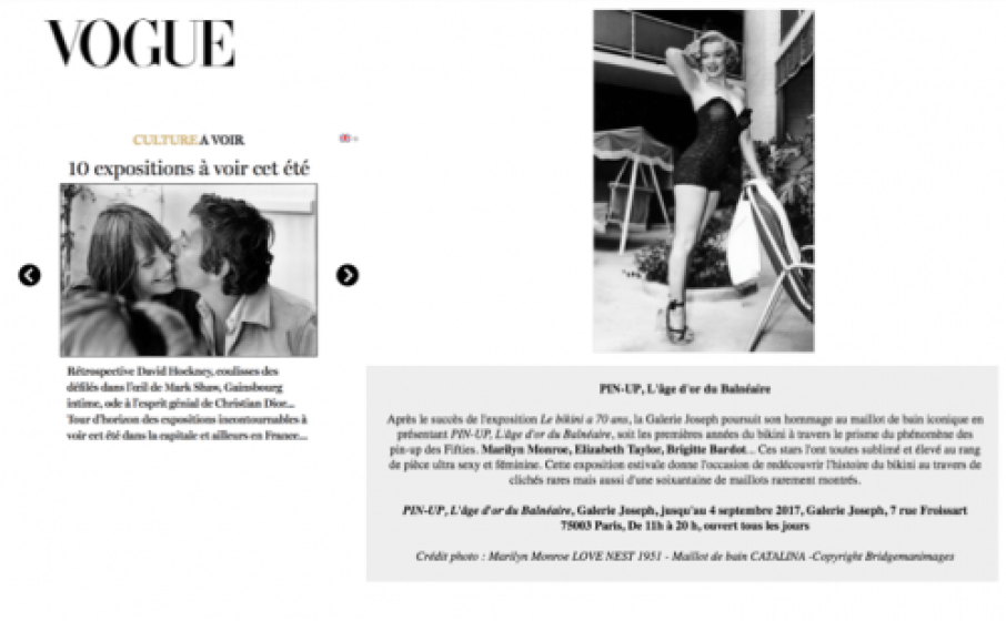 Exposition Pin Up Vogue