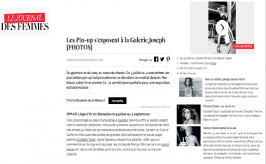 Exposition Pin Up Journal des Femmes
