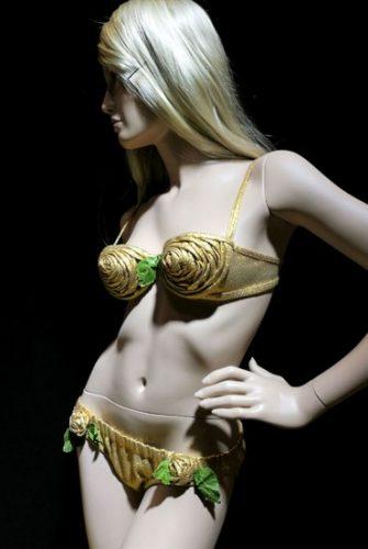 Bikini en lamé doré Louis Réard