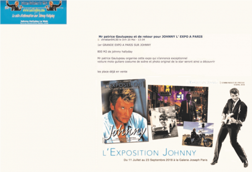 Exposition Johnny Le Web