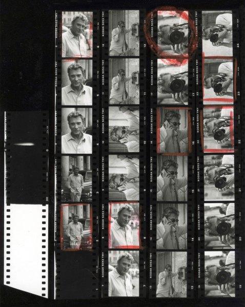 Johnny Hallyday_Planche contact-Alberto Korda©Korda-DisPlayProductions