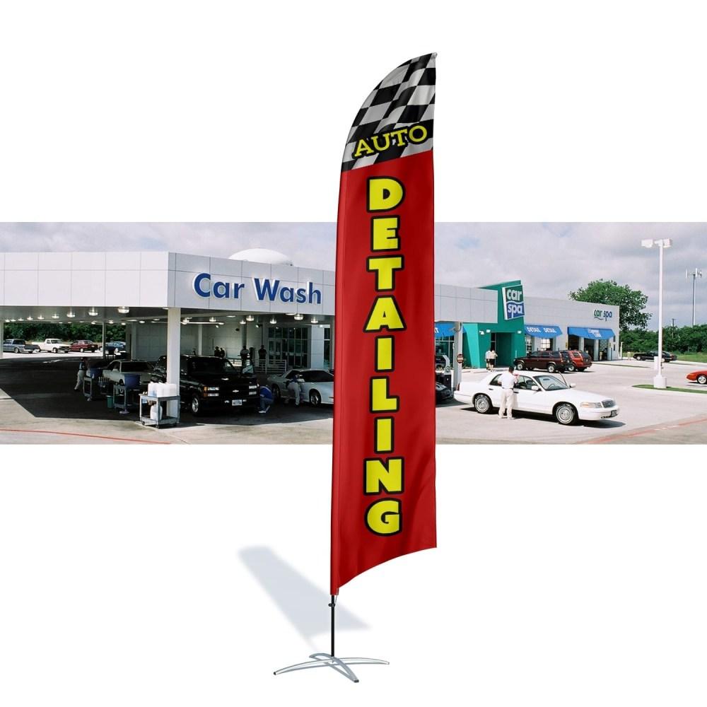 Car Wash Flag Auto Detailing