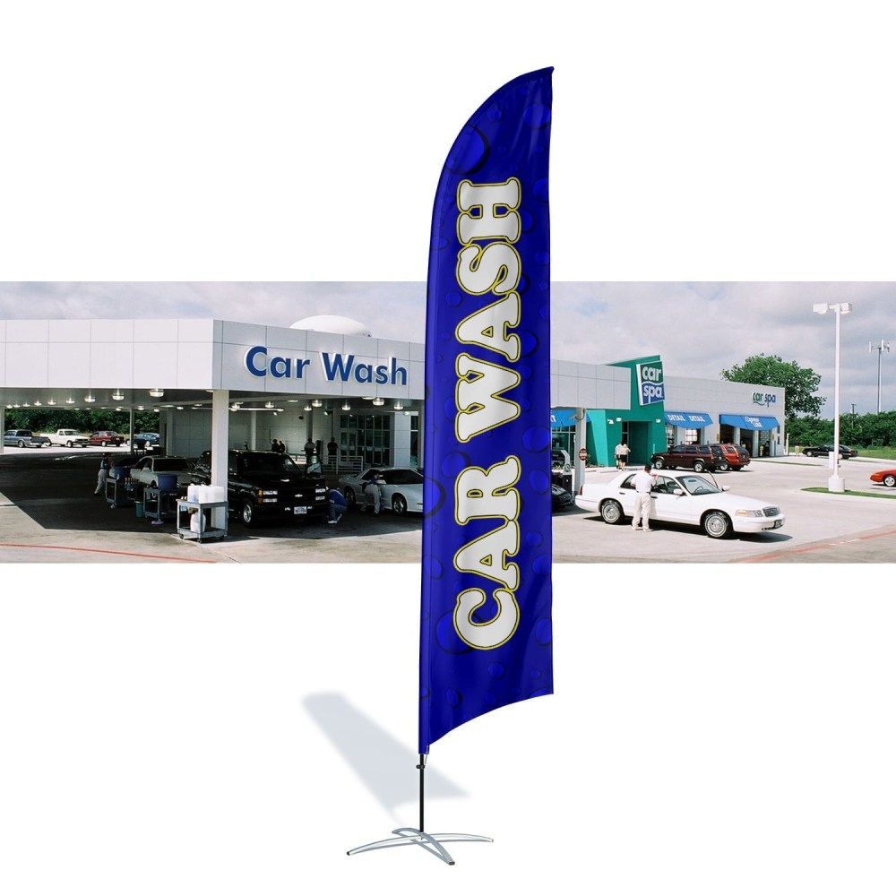 Car Wash Flag Water Drops