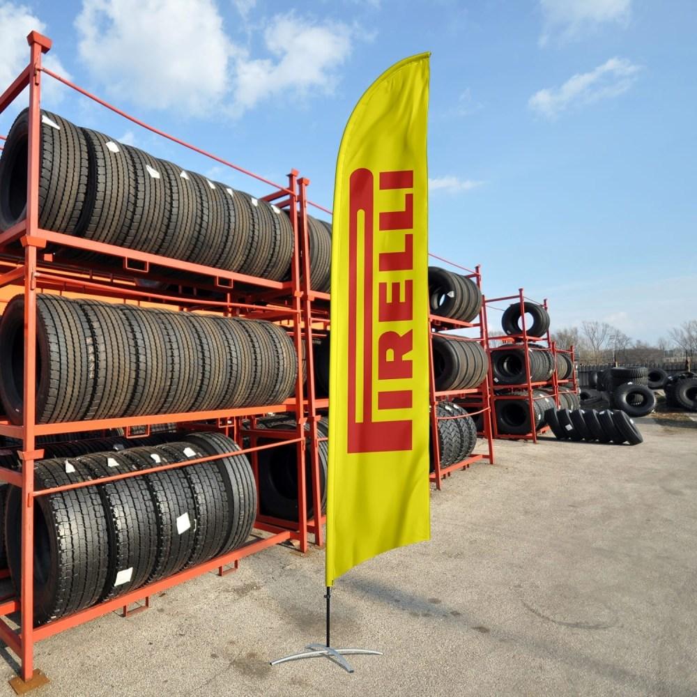 Tire Shop Flag Pirelli