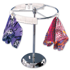 Revolving counter top scarf rack
