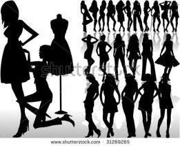 stock-vector-silhouettes-fashion-girl-with-sempstress-31269265