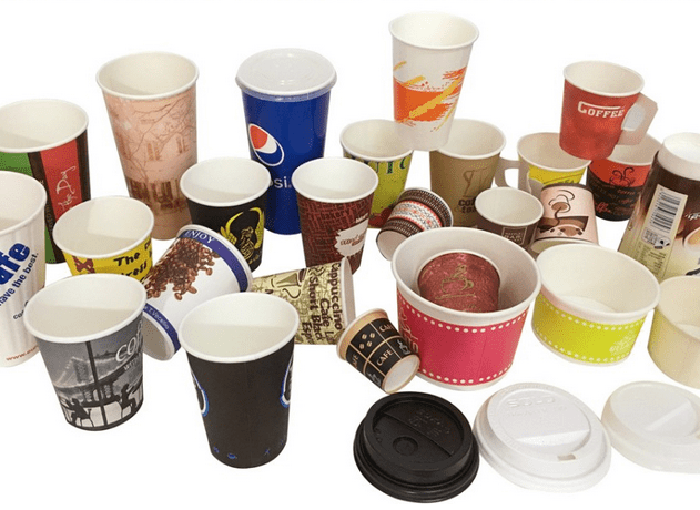 Adiabatic Custom Paper Coffee Cups with Cover , Disposable