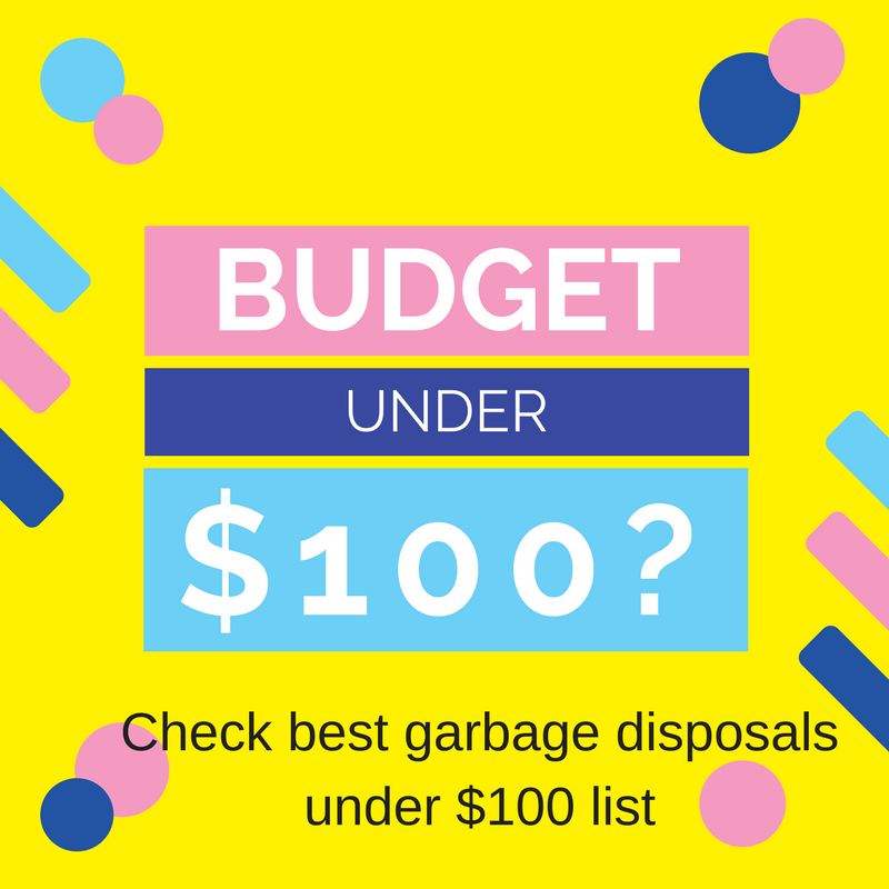 garbage disposal under $100