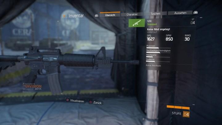 Tom Clancy's The Division™ Beta Inventar - Primärwaffe Details