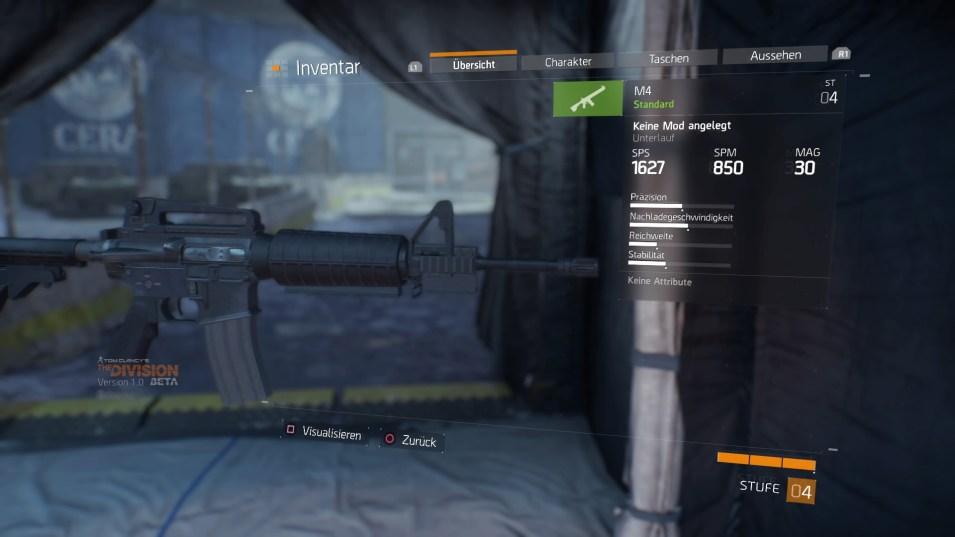 Tom Clancy's The Division™ Beta Inventar - Primärwaffe Details