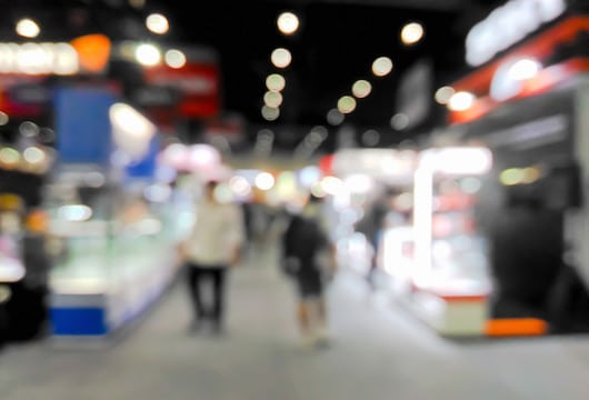 Trade shows blurred