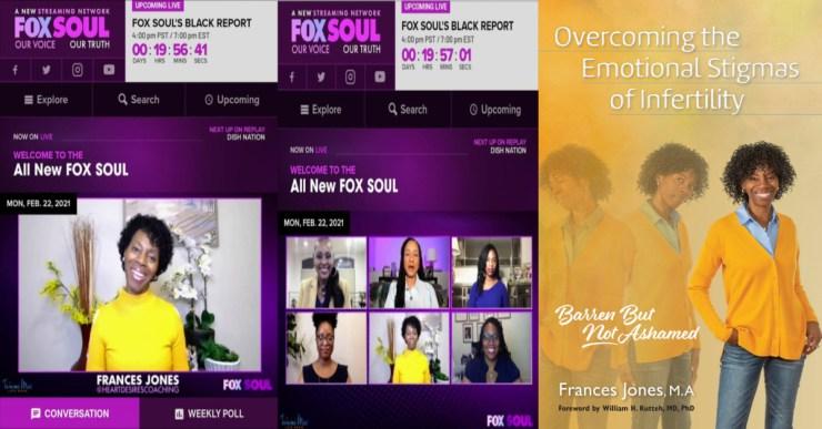 Frances Jones Panel Discussion on Tammi Mac Show (FOX SOUL)