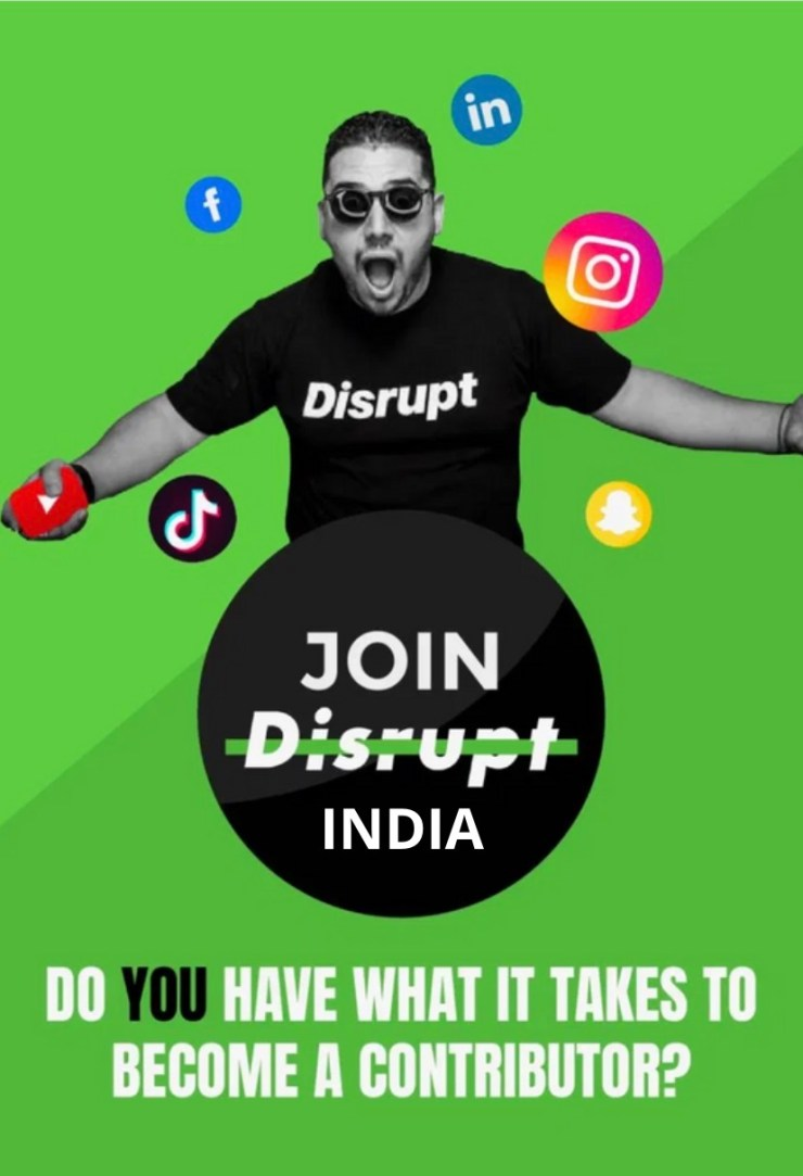 Become A Disrupt Contributor