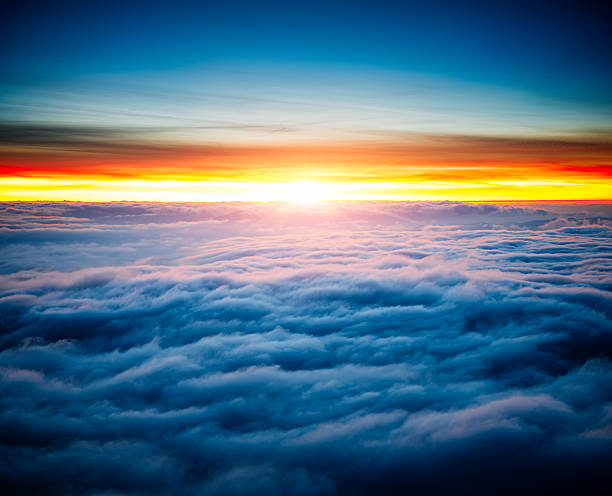 Majestic Sunrise Above the Clouds.