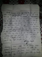 The Letter Written by Navroz Hamidi, 16 before the incident to his family.