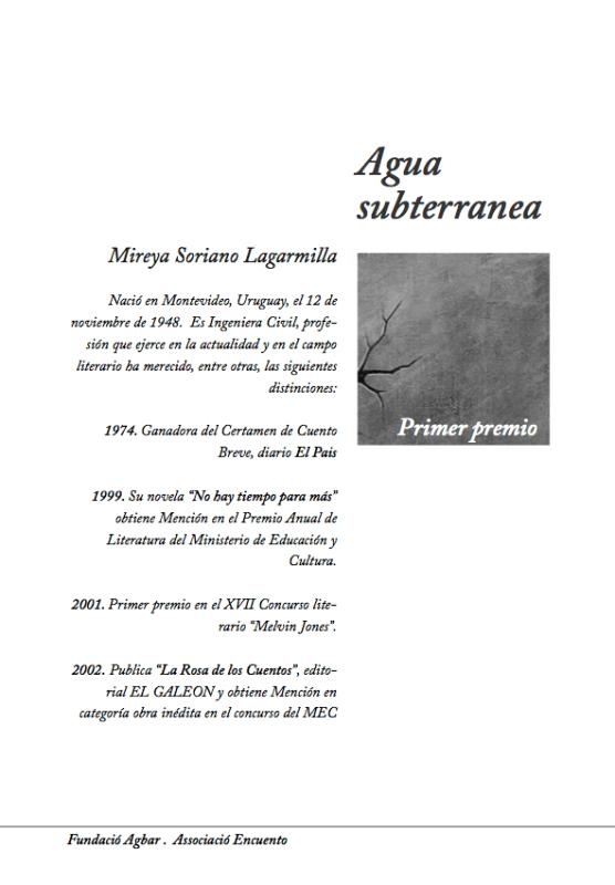 Pàgina coberta de Capitol del llibre del II Concurs de Contes de l'Aigua