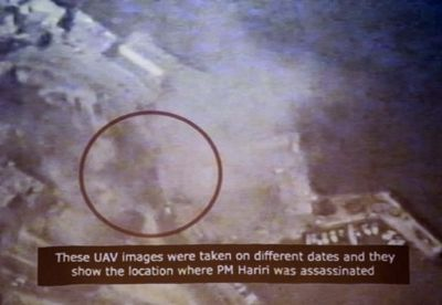 Hezbollah intercepted and released videos from Israeli drones surveying Rafik Hariri's movements and the scene of the crime.