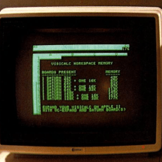 Old-timey computer screen