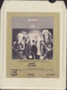 "Image of an 8-track tape, ""The Game"" by Queen front side"