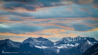 Banff-Lake Minnewanka scenic drive sunset-1