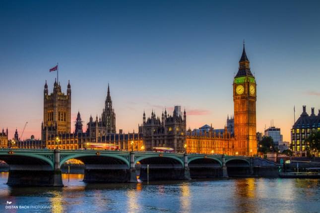 Big Ben (shot handheld beside London Eye)