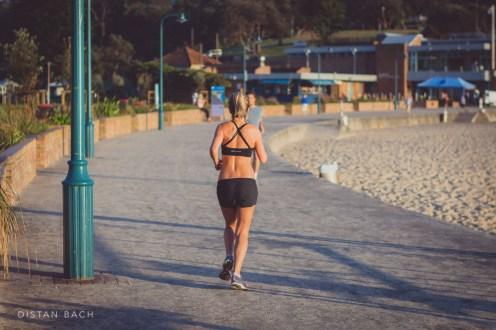 Early morning jogger