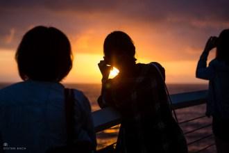 Tourists capturing the sunrise