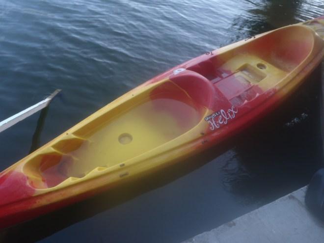 Wet kayak