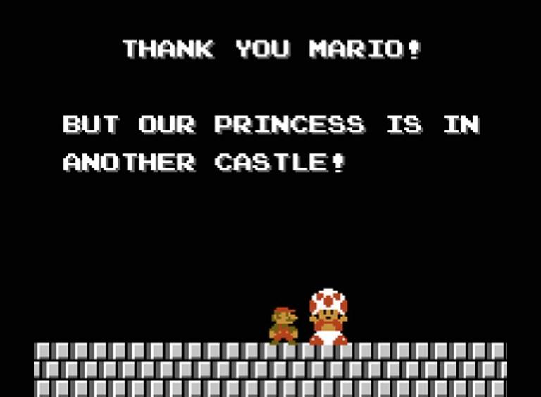 Toad in Super Mario Bros