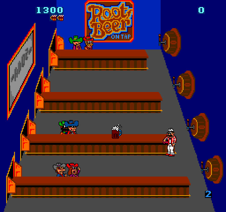 Screenshot of the game, Tapper