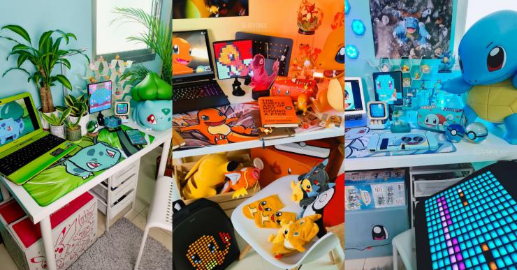 Vincent Lubuguin's Pokémon-themed workstation is amazing